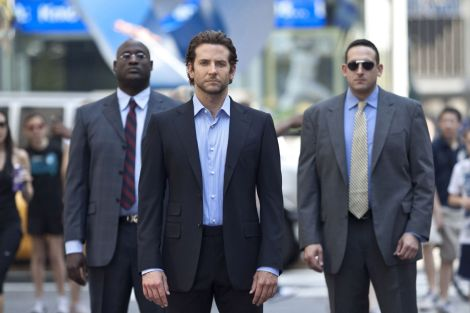 M 46 Bradley Cooper (center) stars in Relativity Media's LIMITLESS. Picture from All Movie Photo.